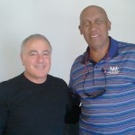 Ron Weiss and Ferguson Jenkins at Shirts Our Business